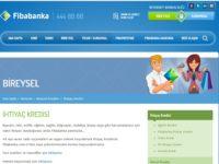 Fibabanka İhtiyaç Kredisi Başvurusu