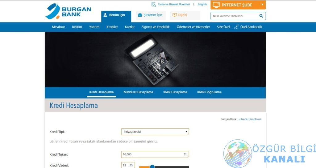 burgan bank kredi