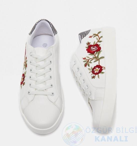 Bağcıklı Ayakkabı Beyaz ₺49,99