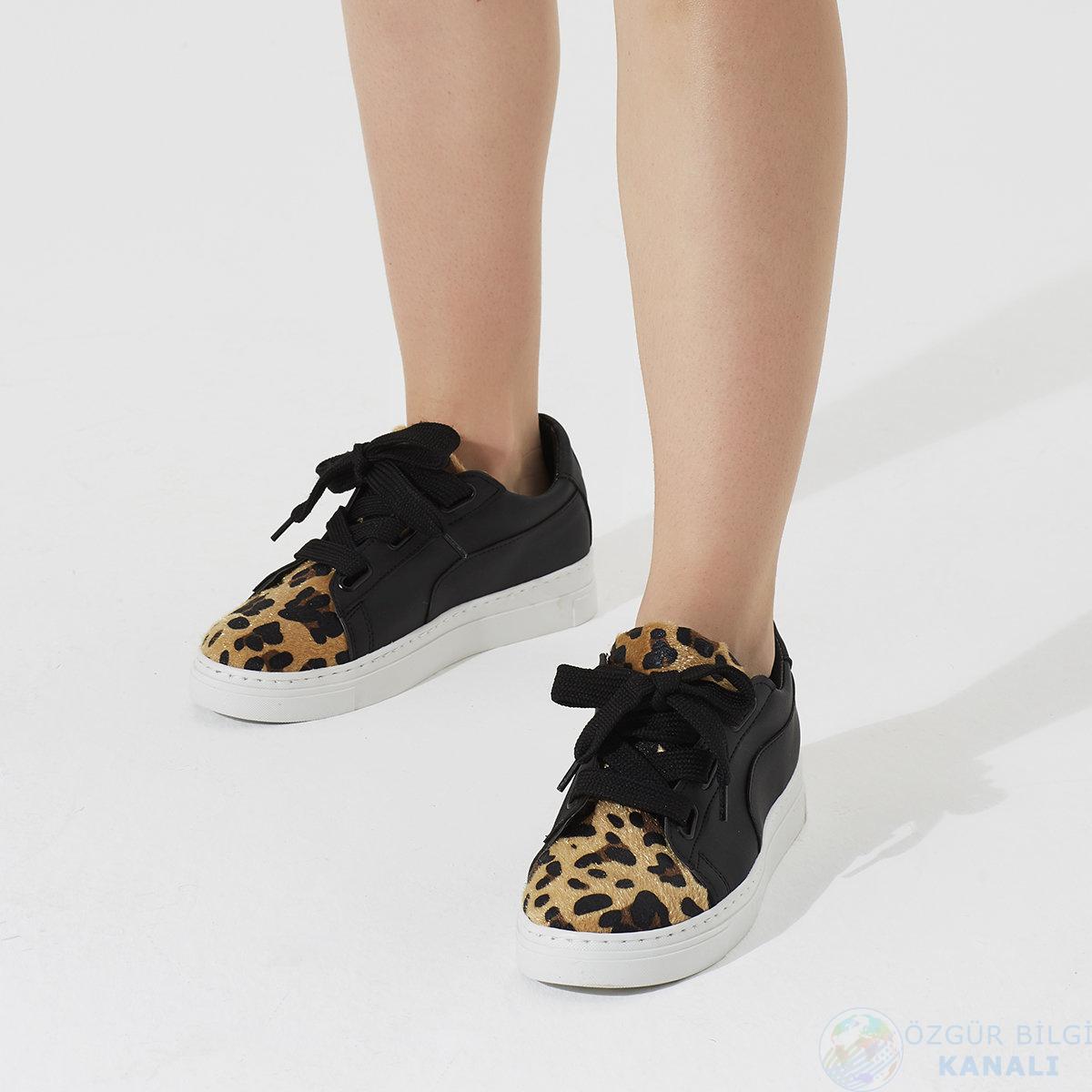 Butigo leopar desenli bayan ayakkabı