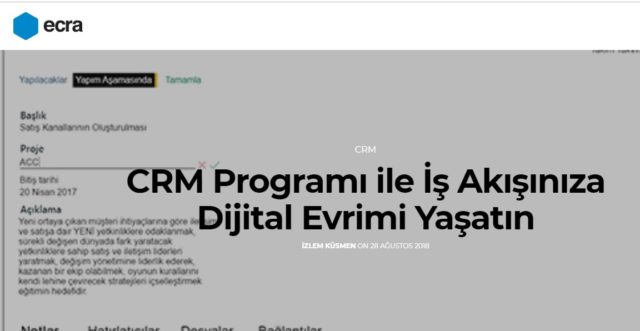 CRM Programı nedir?