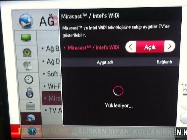 bilgisayarı televizyona bağlamak kablosuz windows 10