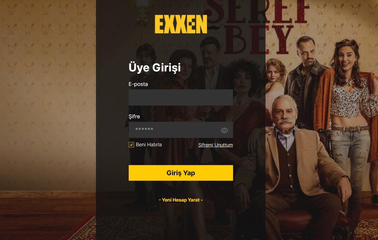 exxen com üye girişi